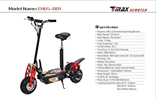 Big Toys USA Evo-2x-Big UberScoot 2x 50cc Gas Scooter