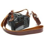 CEARI-Premium-Camera-Leather-Shoulder-Neck-Strap-Belt-Storage-Case-Carrying-Bag-for-Canon-Nikon-Pentax-Olympus-Sigma-Sony-Fujifilm-Casio-Panasonic-DSLR-Camera-MicroFiber-Clean-Cloth-Coffee