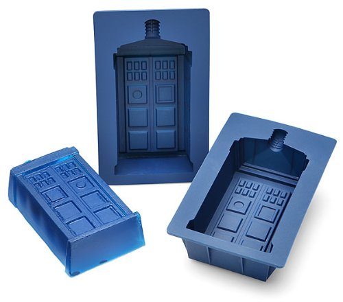 Doctor Who TARDIS Gelatin Mold Set of 2 - Dr Who TARDIS Silicone Mold Set - Each Mold Holds 1 cup, Perfect for Jello or Cupcakes - Food Safe - Officially Licensed Doctor Who Merchandise