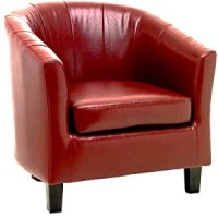 Red Tiffany Tub Chair: Amazon.co.uk: Kitchen & Home