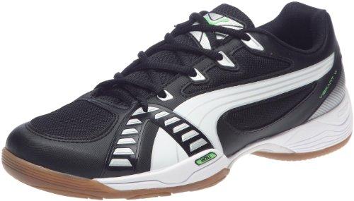 Puma Vibrant VI 102404, Herren, Sportschuhe - Indoor, Schwarz (black-white-fluro green 03), EU 41 (UK 7.5) (US 8.5)