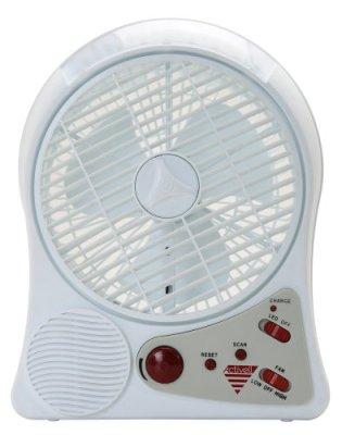【アウトドアや非常時にも活躍】 充電式サーキュレーター (LEDライト・FMラジオ搭載) circ-001