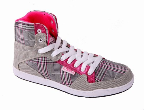 PEAK Sneaker Damen Square grau-rosa 36