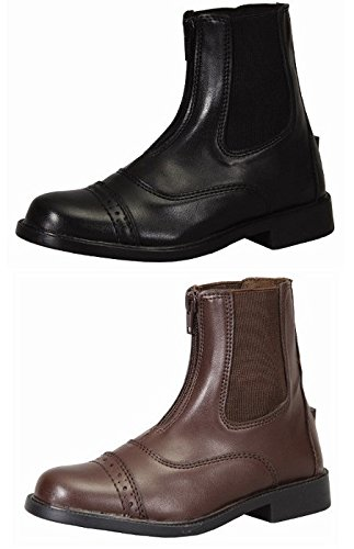 <乗馬・乗馬用品・馬具> AWフロントジップ ジョッパー乗馬用ブーツ (ブラウン, US9=25cm)
