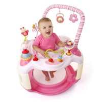 Pink Bright Starts Bounce Baby Activity Center Bouncer ...