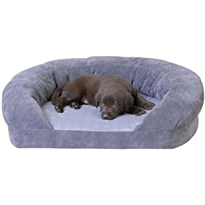 good sofa fabric for dogs replacement foam bolster dog bed with pillows pet couch | blue ...