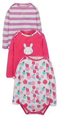 Baby-Girls-3-Pack-Bodysuits-Dotted-Assorted-24-Months