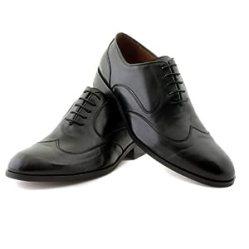 NOHARM Black Wing Lace-up Vegan Shoes NOHR1964
