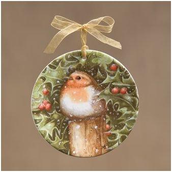 Robin Mini Plate Ornament
