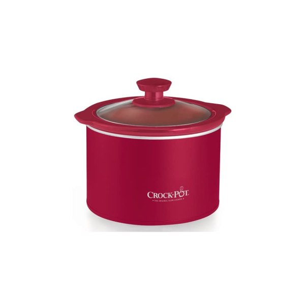 Red Crock Pot Slow Cooker Stoneware 1 5 Quart Qt Lid Cook Jar Jug Free