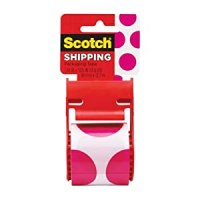 Scotch Decorative Shipping Packaging Tape, 1.88 x 500 Inches