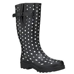 Product Image Xhilaration® Zanna Polka Dot Rain Boots - Black/ White