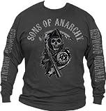 Sons of Anarchy Logo Long Sleeve T-Shirt (Size XXL/Grey)