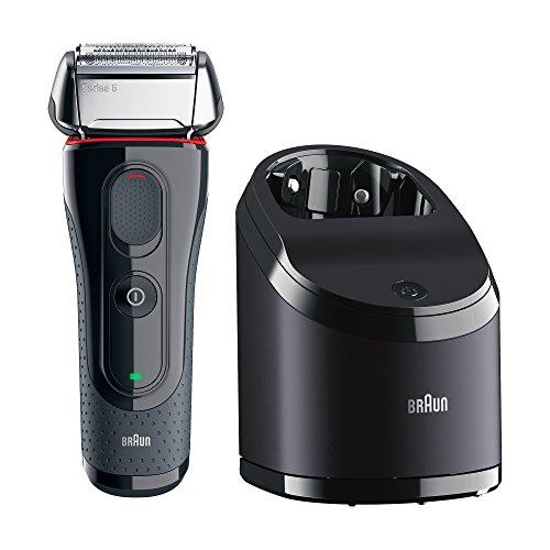 Braun Series 5 5050cc Elektrorasierer mit Clean&Charge-Station und zwei Nachfüllpackungen