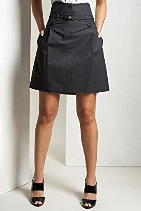 Limited collection pinstripe high waist skirt