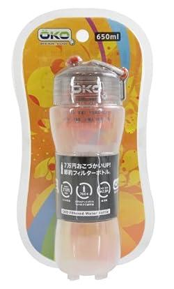 OKO(オコ) Filtration Water Bottle 650ml ろ過機能付きボトル Sun kob0009