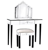 French Shabby Chic Etched Venetian Glass Dressing Table ...