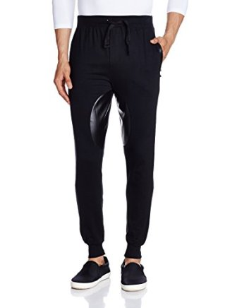 Body Tantrum Men's Track Pants (BTDLTBK_34W x 31L_Black)