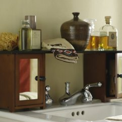 Slim Kitchen Trash Can Cabinets Design Software Bathroom Furniture Sets: Mirrored Over The Sink ...