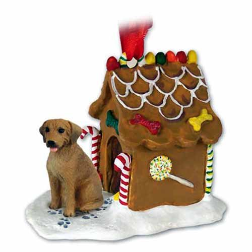 Rhodesian Ridgeback Gingerbread House Christmas Ornament