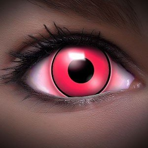 Farbige Kontaktlinsen Crazy Color Fun Contact Lenses 'UV PINK' Topqualität