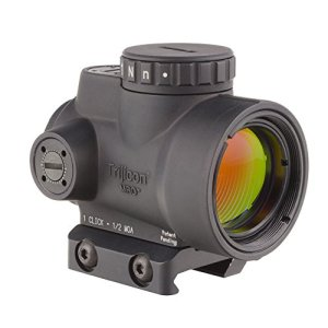 Trijicon MRO-C-2200004 2.0 MOA Adjustable Red Dot Sight with AC32067 Low Mount Adaptor, 1 x 25mm