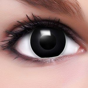 Farbige Kontaktlinsen Crazy Color Fun Contact Lenses 'Black Eyes' Topqualität