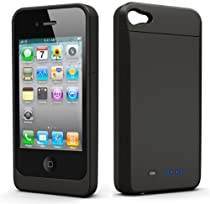 uNu Power DX External Protective Battery Case for iPhone 4S & 4 (Matte Black, Fit All Models iPhone 4 & 4S)