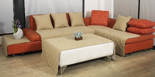 quilted 35x70 chocolate brown bonded or classic micro suede sectional sofa cover pad eviebrownzrvy