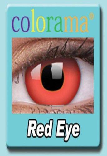 Farbige Kontaktlinsen Crazy Motivlinsen Kostüm Karneval RED EYE / ROT