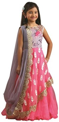 Girls-Designer-Long-Gown-Indian-Clothing-Size-34