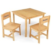KidKraft Aspen Table and Chair Set Natural with Blue Block ...