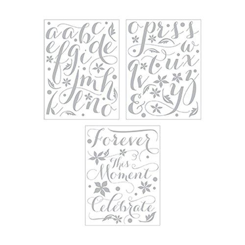 Cosmo Cricket Vinyl Letter Stickers (Pack of 3), Metallic