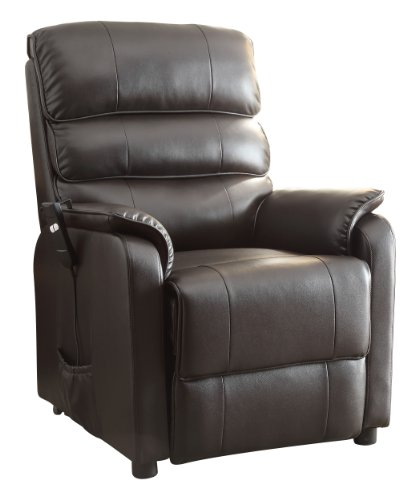 Homelegance 85451LT Power Lift Recliner Chair Dark Brown