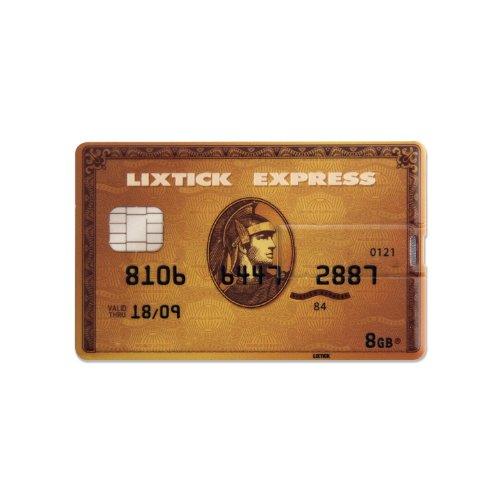 LIXTICK USB CARD MEMORY [Creditcard]カード型USBメモリー 8GB