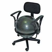 """Amazon.com: CanDo 30-1791 Ball Chair, 22"""" with Back/Arms ..."""