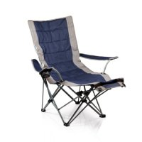 Picnic Time Portable Lounger Reclining Chair, Navy ...