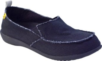 Spenco Women's Siesta Slip-On Canvas Midnight/Silver 8 M