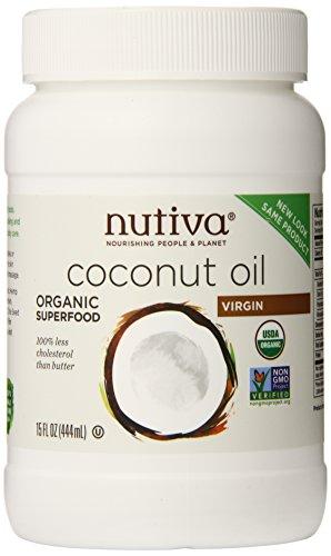 Nutiva Organic Virgin Coconut Oil, 15 Ounce (Pack of 2)