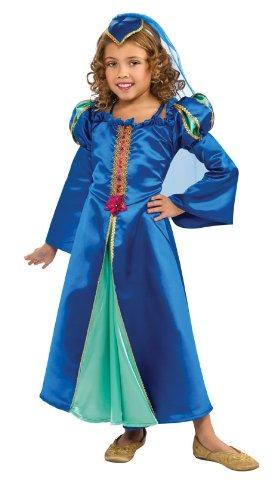 Renaissance Princess Costume, Blue, Large