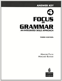 Focus on Grammar 4 Answer Key: 9780131912366: Amazon.com