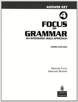 Focus on Grammar 4 Answer Key: 9780131912366: Amazon.com