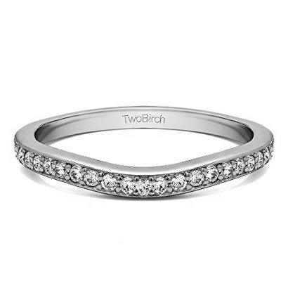 025-ct-Diamonds-Diamond-Dainty-Curved-Tracer-Band-set-in-Silver-025-Ct-Twt-Diamonds-G-HI2-I3-in-Silver-14-ct-twt