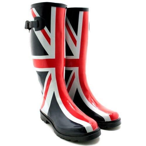 Gummistiefel Union Jack Fashion Stiefel, Damen, Größe 41