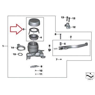 BMW Genuine Handbrake Handlebar clamp Fluid Reservoir