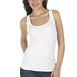 Long and Lean Tank Top - True White