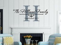 Family Established Wall Art Peronalised Family Name with