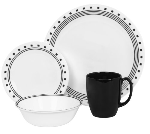 Corelle Livingware 16-Piece Dinnerware Set City Block