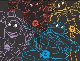 Teenage Mutant Ninja Turtles Neon Fleece Throw
