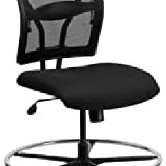Hercules Big And Tall Drafting Chair Covers With Arms Amazon.com: Series 400 Lb. Capacity & Black Mesh Chair: Kitchen Dining